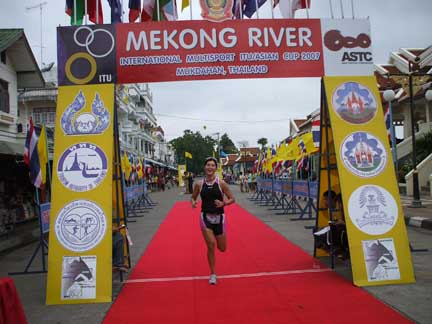 Pia in Mekong River Race