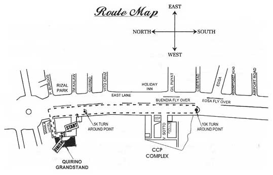 Adidas KOTR Route Map