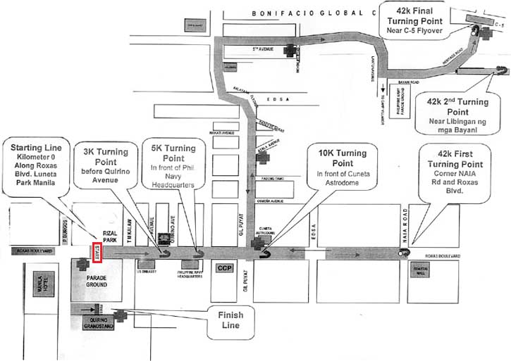 Milo Race Route 3k/ 5k/ 10k/ 42k